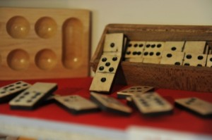 Gioco:Domino in legno e osso - Fine '800