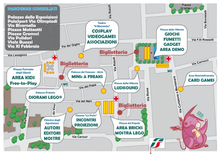 Mappa della manifestazione Ludicomix 2015 - Empoli