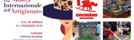 Giocamuseo AREA GIOCHI alla MOSTRA DELL'ARTIGIANATO DI FIRENZE 21 Aprile - 1 Maggio